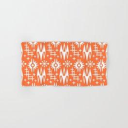 Mid Century Modern Atomic Space Age Pattern Orange Hand & Bath Towel