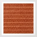 Herringbone Rust and Peach by sewzinski