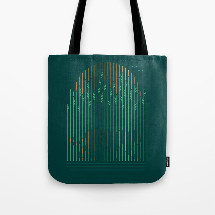 Tiger In The Grass Tote Bag