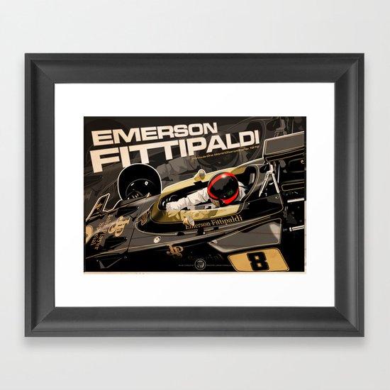 Emerson Fittipaldi  - F1 1972 Framed Art Print