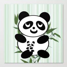 Panda mom and Baby Canvas Print