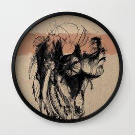 American Indian III Wall Clock