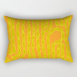 Bike Chain - Olive Citrus Rectangular Pillow