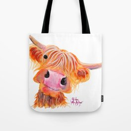 Highland Cow Print, Animal Print ' NESSIE ' by Shirley MacArthur Tote Bag