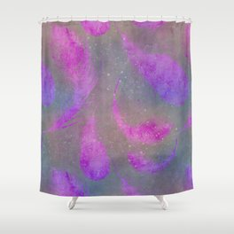 pink watercolor feather pattern Shower Curtain