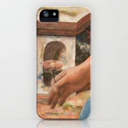 Madonna's flower (detail of the painting by Fra Filippo Lippi) iPhone Case