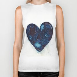 I left my heart by the ocean. Biker Tank