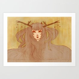 Woodland Spirit Art Print
