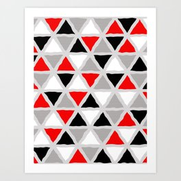 Abstract Triangle Pattern Art Print