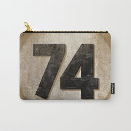 Vintage Auto Racing Number 74 Carry-All Pouch