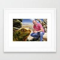 lizard Framed Art Prints featuring Lizard by amanvel