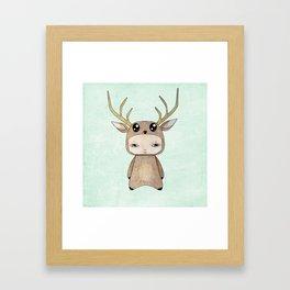 A Boy - Red Deer Framed Art Print