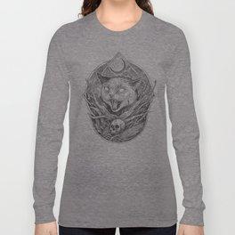 Wild cat b/w Long Sleeve T-shirt