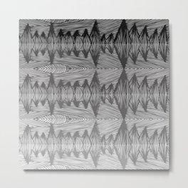 spiky grey gradient Metal Print