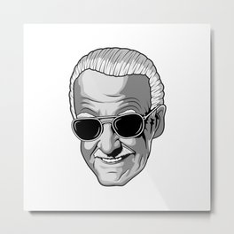 Stan Lee Face Metal Print