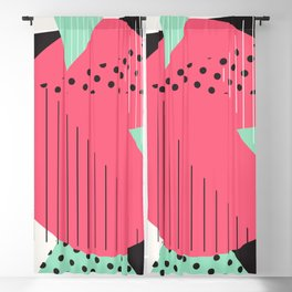 Charlotte 1987 - Memphis Throwback Retro 1980s 80s Trendy Hipster Pattern Mint Blackout Curtain