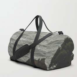 And So The Adventure Begins - Ocean Emotion Black and White Duffle Bag
