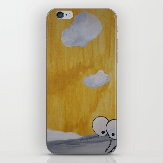 Plant with Yellow Sky iPhone & iPod Skin