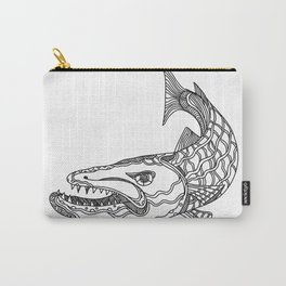 Barracuda Fish Doodle Art Carry-All Pouch