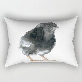 Barred Rock Chick Watercolor Rectangular Pillow