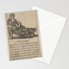 Game of Geography - America (Stefano della Bella, 1644) Stationery Cards