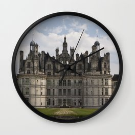 French castle, Chambord, Loire valley Wall Clock