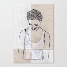 Patchwork Portrait: Katie West Canvas Print