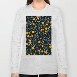 Oranges Black Long Sleeve T-shirt