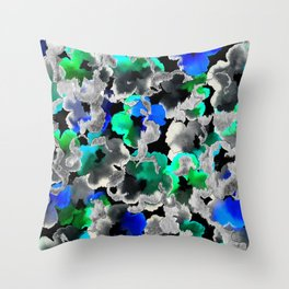 Etched Watercolor Throw Pillow