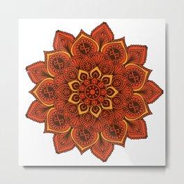 Rubino Zen Flower Yoga Mandala Asia Metal Print