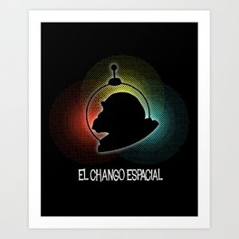 El Chango Espacial (Technicolor) Art Print