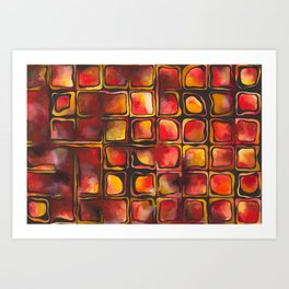 Red Blood Cells in Flow Art Print