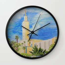Los Angeles California LDS Temple Wall Clock