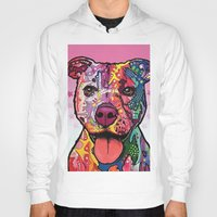 rottweiler Hoodies featuring Rottweiler Dog by trevacristina