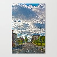 dwight Canvas Prints featuring Dwight st by Drv Photo