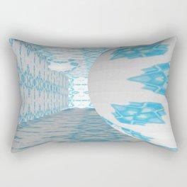 3D Blue 1 Rectangular Pillow