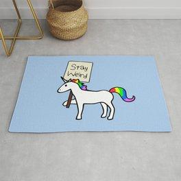 Stay Weird, Unicorn Rug