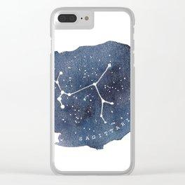 sagittarius constellation zodiac Clear iPhone Case
