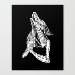 Praying wolf Canvas Print