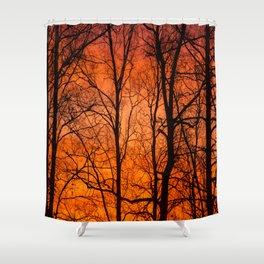 Leafless Trees At October Sunrise #decor #buyart #society6 Shower Curtain