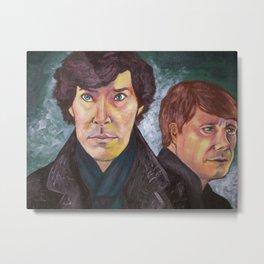 Sherlock and John Metal Print