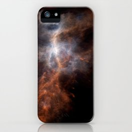 the hunter becomes fire | space #08 iPhone Case