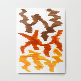 Bold Graphic Colorful Abstract Art Minimalist Tribal Pattern Mid Century Modern Metal Print