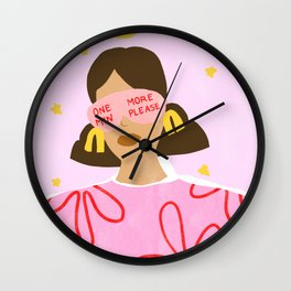 One More Minute Please Wall Clock