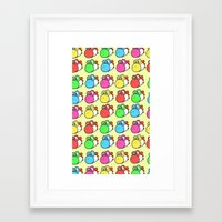 yoshi Framed Art Prints featuring yoshi by zamiiz