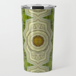Wood and metal in a rainbow pattern forest Travel Mug