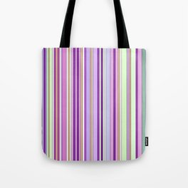 Pink Summer Stripes Tote Bag