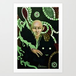 Solas, wolf and patterns Art Print
