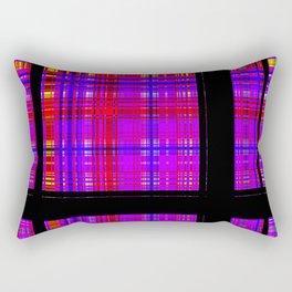 Unicorn Plaid Squares Rectangular Pillow