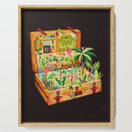 THE TROPICAL ADVENTURE SUITCASE Serving Tray